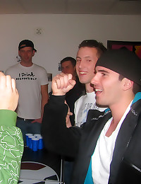 Gay dorm party with anal