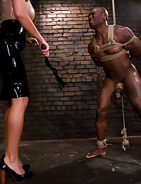 Sadistic goddess flogs, ass fucks, and drains her slave relentlessly!