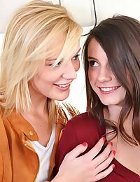Hot Lesbian Action In Bathroom