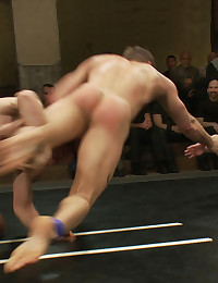 Four of NKs toughest and hottest wrestlers come together for one extreme tag team match in front a crowd of screaming fans.