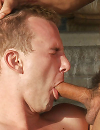 Two studs battle it out in a powerful and sexy grudge match that ends with the winner pounding the loser's ass in a hot tub.