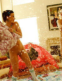 Pillow fight and bondage play