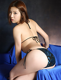 Sexy girl models little bikini