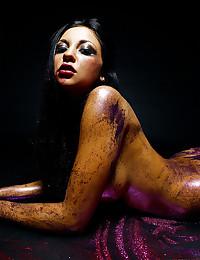Olive Skinned Audrey Gets Naked