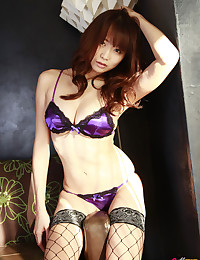 Busty Asian In Sexy Fishnet S...