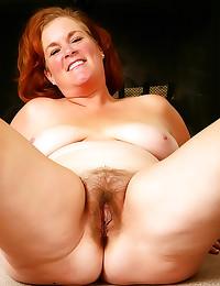 Chubby mature tease hairy pus...