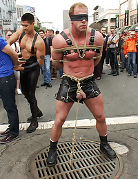 Gay bondage in the streets
