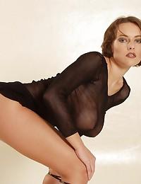 Hairy pussy girl in lingerie