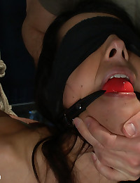 Husband surprises his hot wife with a gangbang for her birthday! Double penetration in bondage, blowbang, and more!!!!