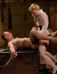 Blond Beauty Loves Dominating Men