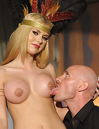 Perky Blonde Gets Filled With Dick