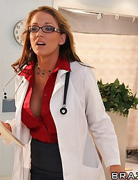 Dr. Sexx has a patient who is completely recovered and ready to leave, but she finds him cute and wants to fuck him. One of her colleagues had dismiss the patient and Nikki has to make sure he's strong enough. Nikki performs the last test. She sucks and r