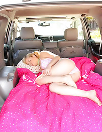 Sleeping girl in car fucked