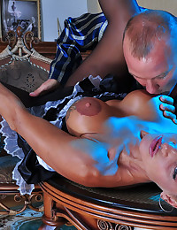 Fucking the French maid hard