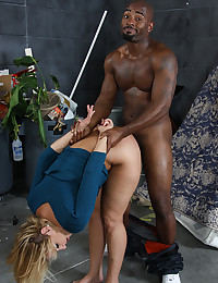 Blond Mellanie Loves Black Cock