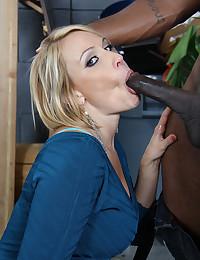 Blond Mellanie Loves Black Cock