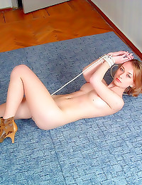 Erotic blonde tied up