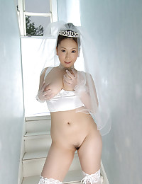 Hairy Asian Bride Strips Down Naked