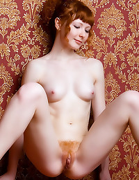 Hairy redhead pussy looks hot