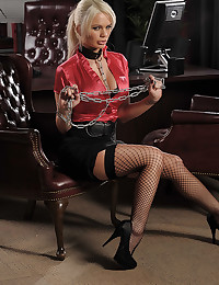 Lustful Office Slave Alexis Exposes All