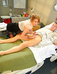Hot slut fucked in hospital bed
