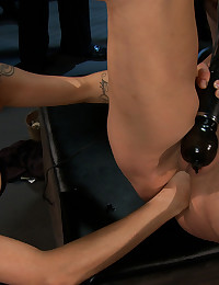 Amber Rayne gets double and triple penetrated, made to lick pussy, clean boots, and entertain a merciless crowd of Princess Donna's guests