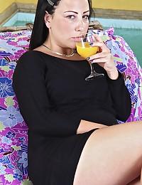 Luscious Latina Minx Gets Jizzed On