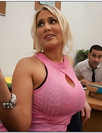 Round Assed Office Babe Gets Pumped