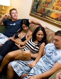 Teen sex party in bedroom