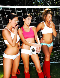 Soccer girls fucked in group ...