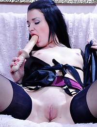 Vixen Enjoys Dildo And Cock