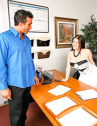 Chubby huge tits office lay