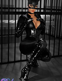 Catsuit on a pornstar