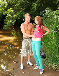 Teen hardcore sex outdoors sizzles