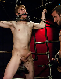 Leather stud with sub boy