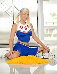 Pigtailed Cheerleader Kelly