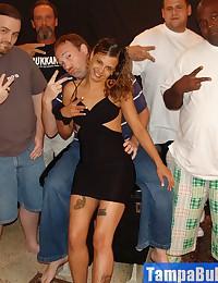 Tight Latina Spinner Brie Getting a Bukkake