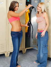 Teens have locker room fun