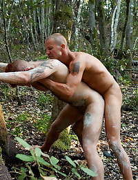 Two Horny Men Fuck Outdoors