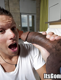Thick black cock rips him up
