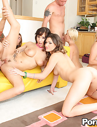 Scorching Hot Trio Share Cock