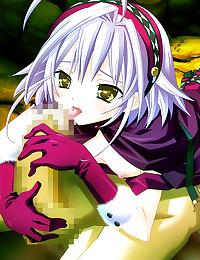 Hentai girl in green stocking...