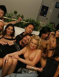 Hardcore orgy party fucking!