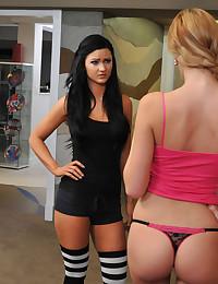 Busty Lesbian Fucks Her Tight Friend
