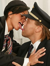 Stewardess and the pilot