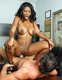 Black girl and white cock