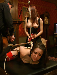 Pixie will weather the tight bondage and corporal Iona practices upon her, but when it comes to the sybian and a zipper she can barely keep control.