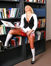 Teacher fucks a bimbo schoolgirl