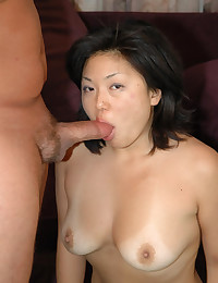 Curvy Asian fuck and facial group sex