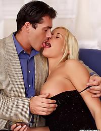 Petite Blonde Enjoys Sensual Sex